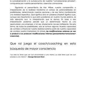 Coaching como despertador de mayor consciencia