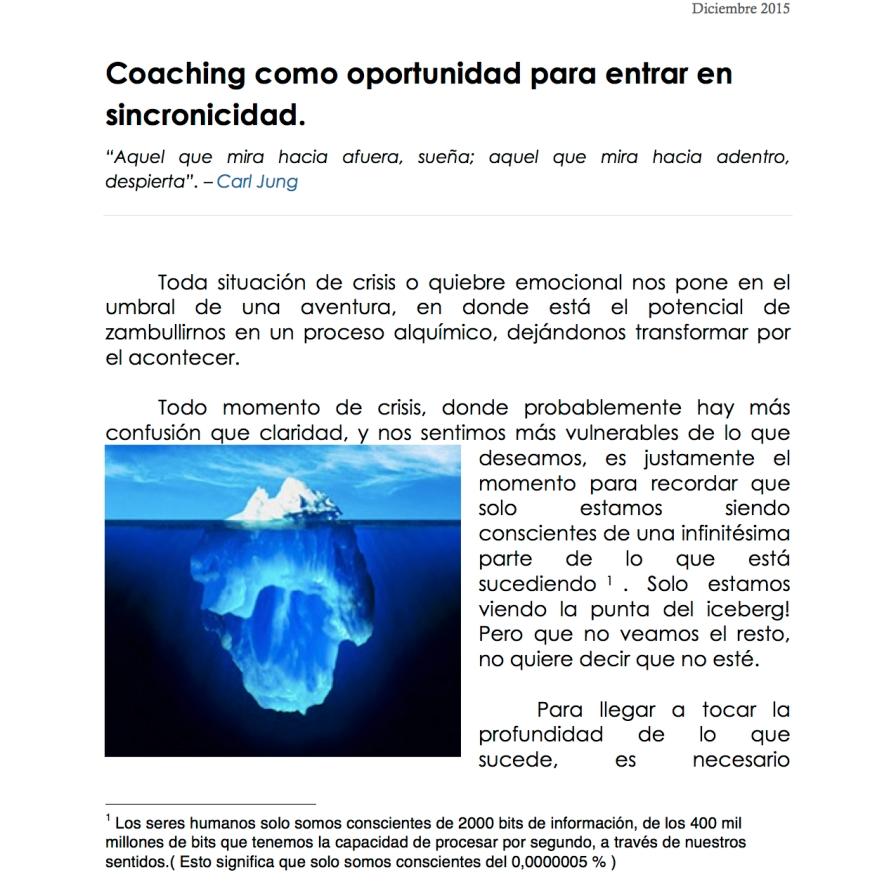 Coaching como oportunidad para entrar en sincronicidad 1:4