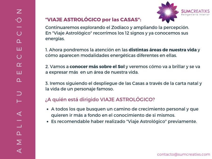 Programa Viaje astrológico por las Casas